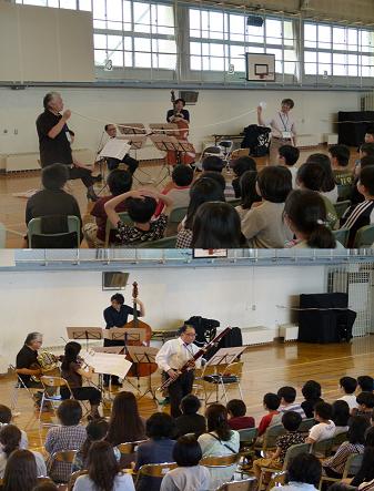 札響音楽創造体験プログラム開催/札幌市立発寒東小学校