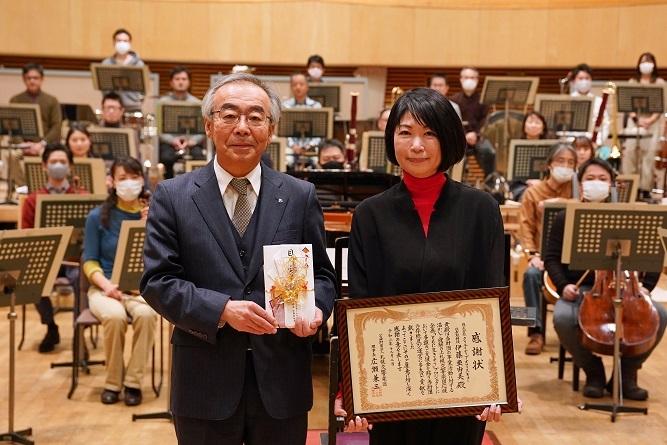 オフィスキュー×札幌交響楽団 札響応援企画「ともに生きよう」プロジェクト 支援金贈呈式を行いました。