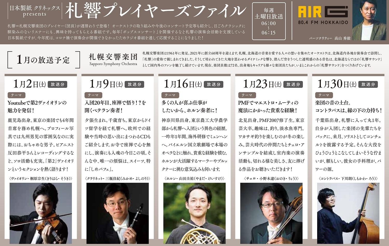ラジオ放送のお知らせ(AIR-G'FM北海道)